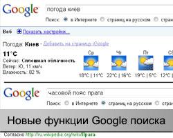 функции поисковика Google