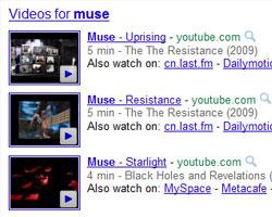 видео в выдаче Google